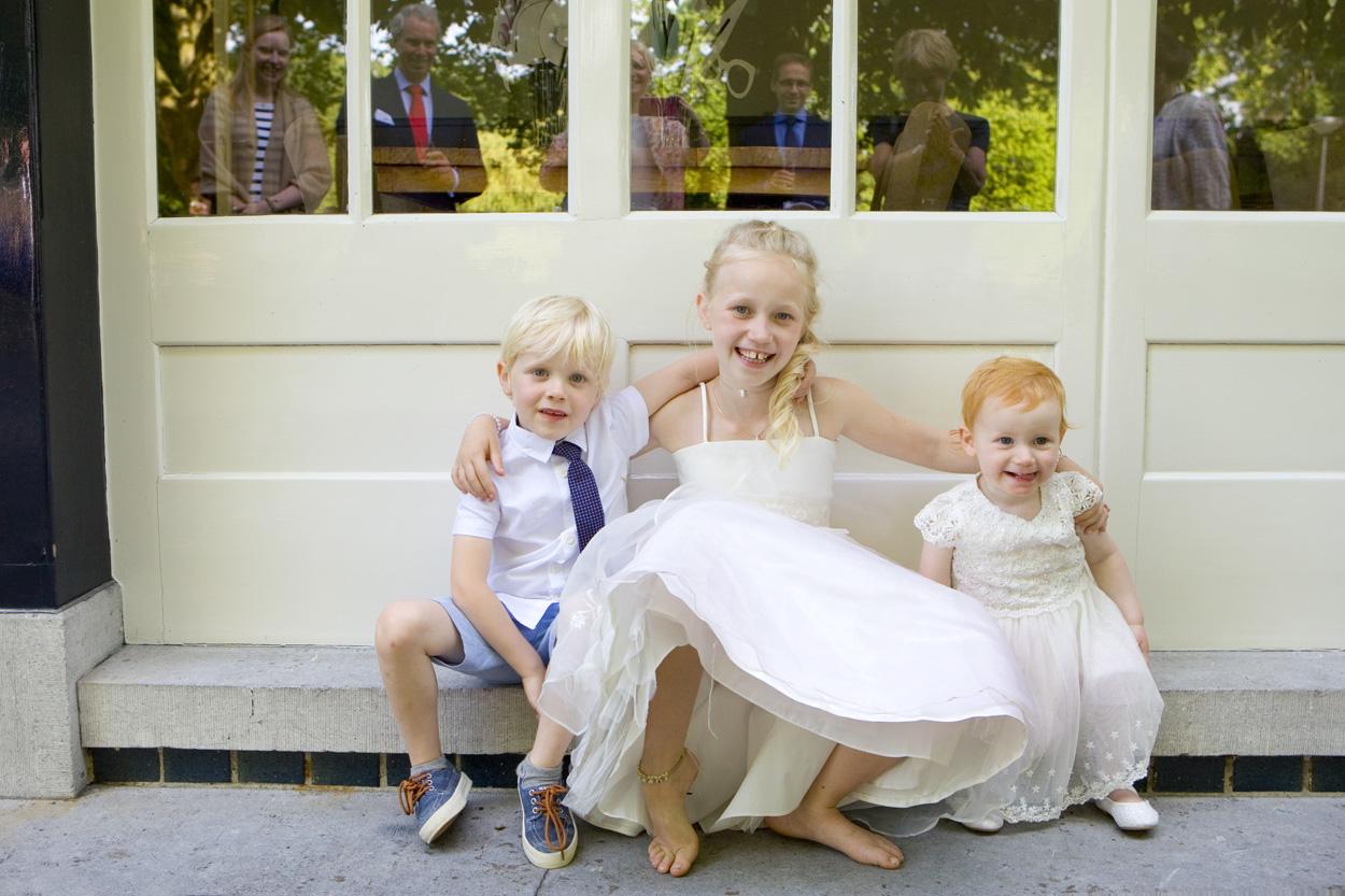 Bruidsfotografie bruiloft kinderen De Lindenhof Delft