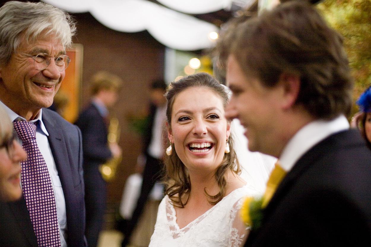 Bruidsfotografie bruiloft bruid receptie Kasteel De Wittenburg Wassenaar