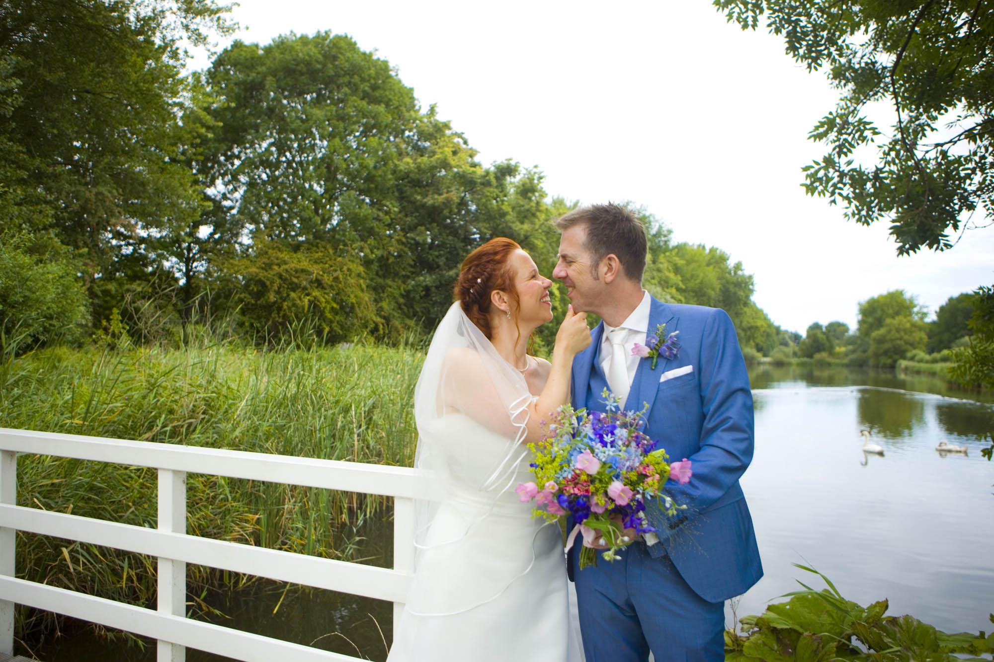Bruidsfotografie bruiloft trouwreportage Delftse Hout