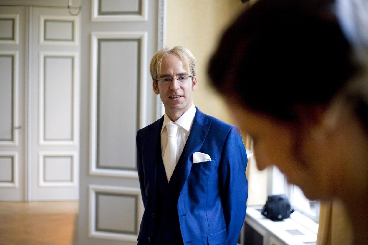 Bruidsfotografie bruiloft Kuyl's Fundatie Rotterdam ceremonie jawoord