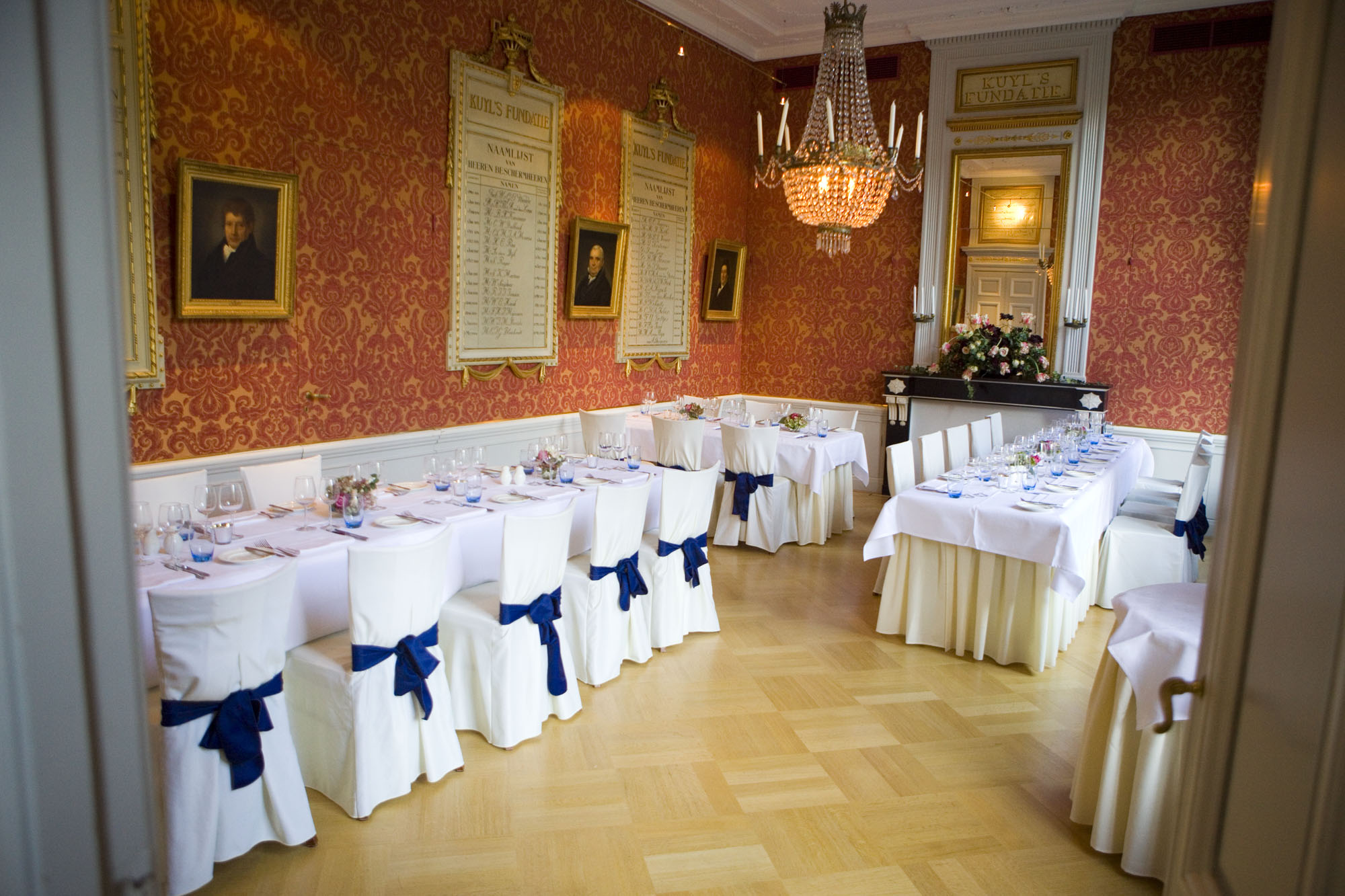 Bruidsfotografie bruiloft diner trouwlocatie Kuyl's Fundatie Rotterdam