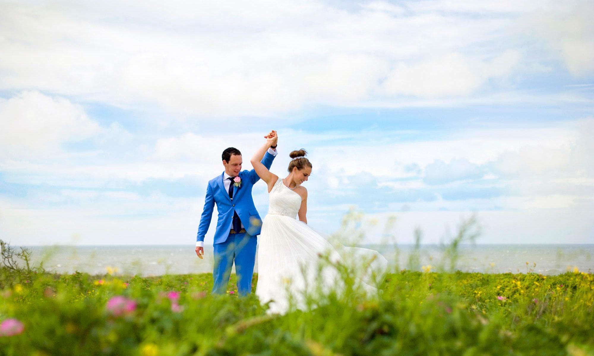 trouwreportage strand van Scheveningen